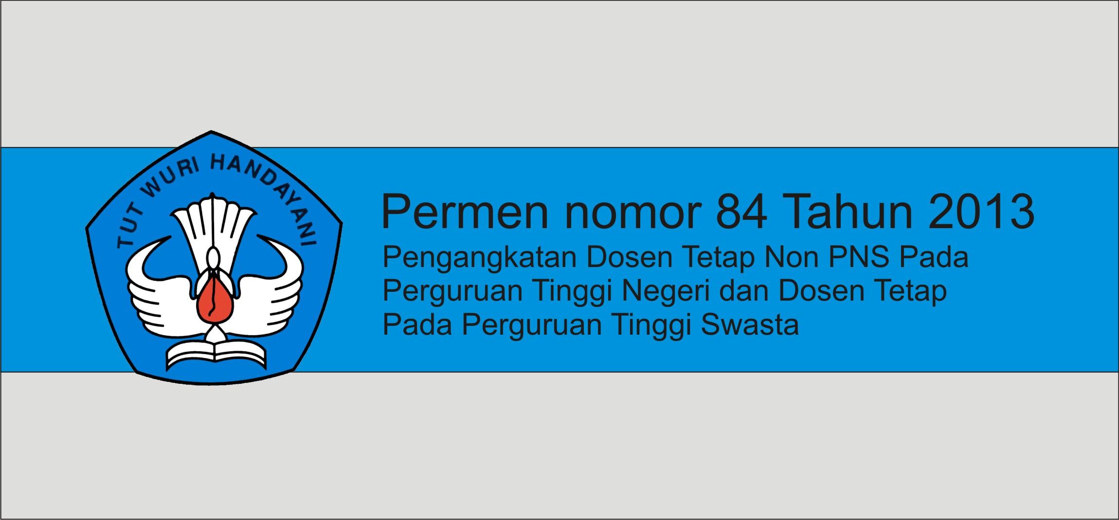 Permen nomor 84 tahun 2013