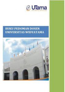 Buku pedoman dosen Universitas Widyatama