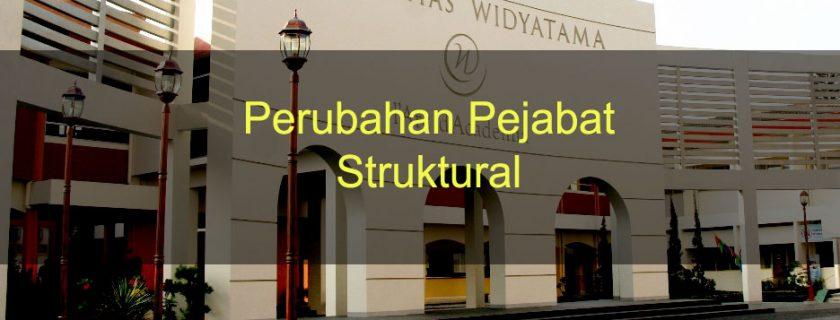 Perubahan Pejabat Struktural (Update Juli 2019)