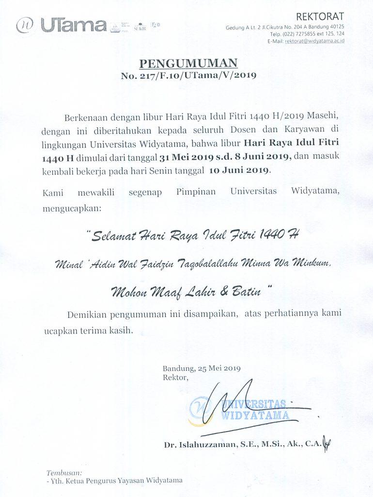 Pengumuman Libur Lebaran 1440 H - 2019-min