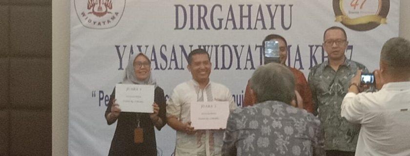 Biro Administrasi & Kepegawaian meraih Juara 1 Lomba Tumpeng dalam rangka HUT Yayasan Widyatama