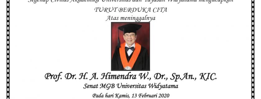 Berita Duka Cita Prof Himendra